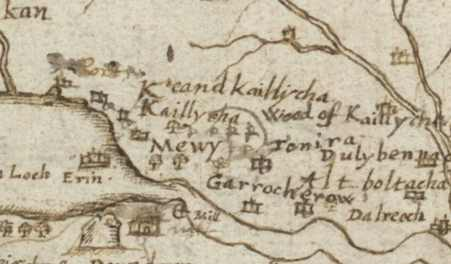 Garrichrew on Ponts Map of 1583  Reproduced with the permission of the National Library of Scotland https://maps.nls.uk/index.html