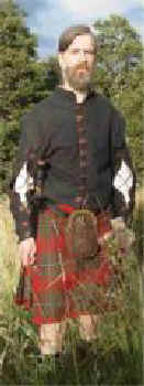 Peter in MacGregor kilt and 17th century slashed doublet