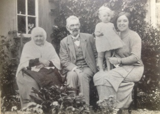 Four generations at Gartymore, Ann MacLean Joseph MacLeod Kathleen Clark with mother Nan Clark in 1926