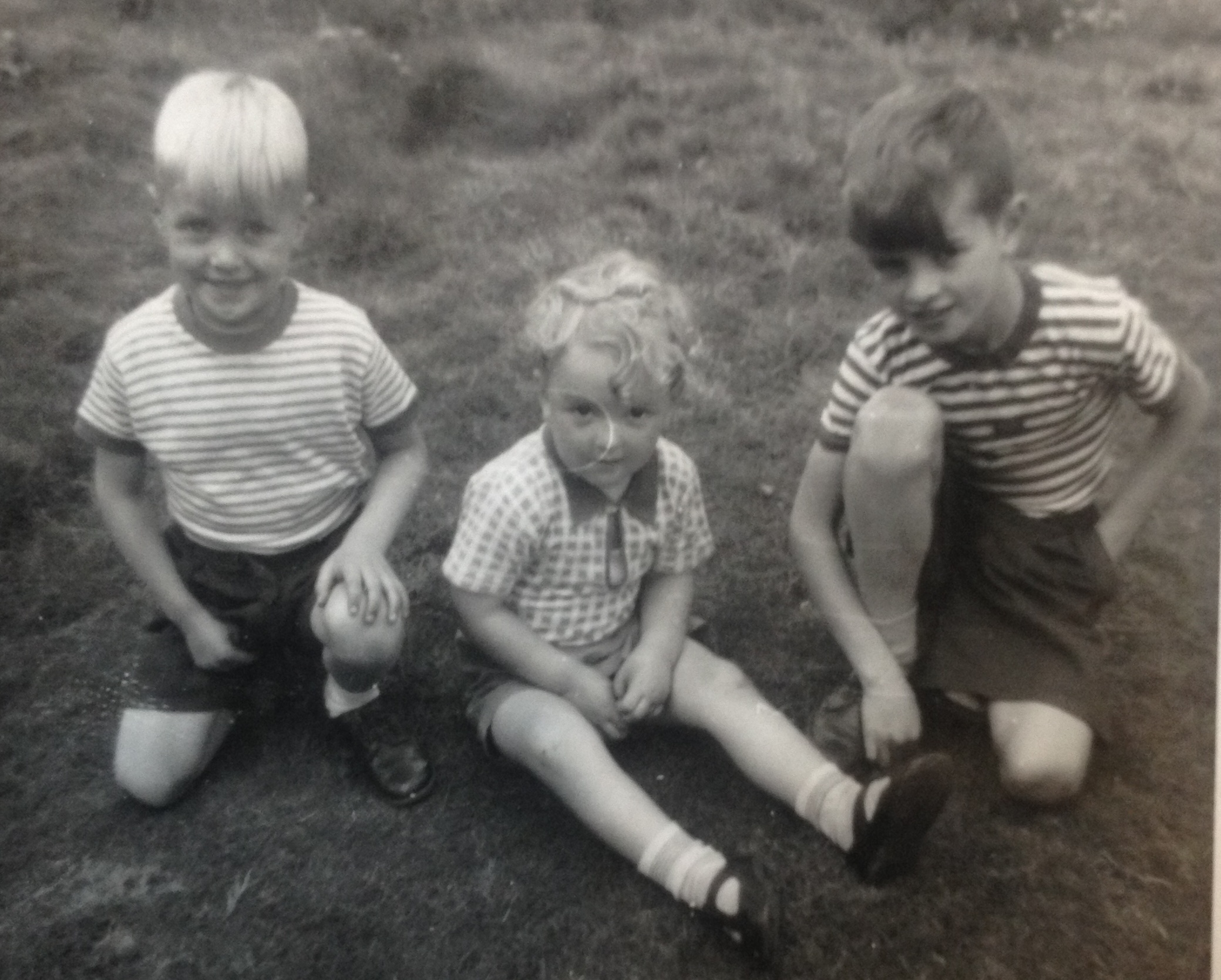 Duncan, Gordon and Peter about 1958