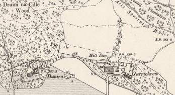 Garrichrew on OS 6-inch map of 1888 Reproduced with the permission of the National Library of Scotland https://maps.nls.uk/index.html