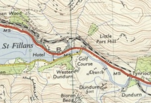 Little Port Hill on OS 1 inch map Reproduced with the permission of the National Library of Scotland https://maps.nls.uk/index.html